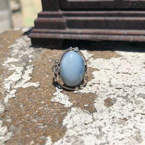 Jewelry - Owyhee Opal Sterling Silver Ring Sz 8.5